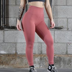 Pants - Til you collapse dusty rose classic leggings